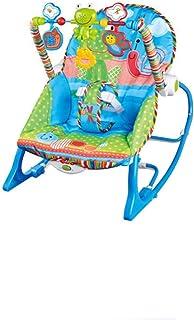 Infant to Toddler Rocker Bouncer Newborn Toddler Rocker Vibration & Music (Blue)