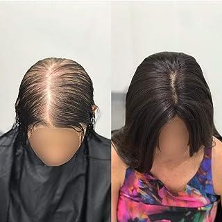 Hetto Clip de Toppers de Corona de Cabello Humano Short Remy Human Toppers Wiglets for Thinning Hair 8 Pulgada #2 El Marrón Más Oscuro 9.5x10cm