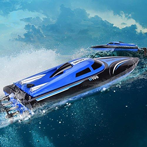 RC Boot, 4 Kanäle Ferngesteuertes Boot mit Anti-Umkipp-Funktion, 2,4 Ghz Ferngesteuerte Schiff für Geburtstagsgeschenk