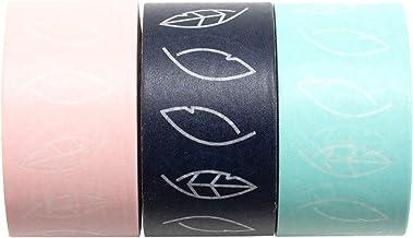We R Memory Keepers 660650 Foil Quill Fixierklebeband, Klebeband, Set mit 3 Rollen Starkes Washi Tape zum Sicheren Fixieren von Kunst-und Bastelprojekten, mehrfarbig, 5,5 m