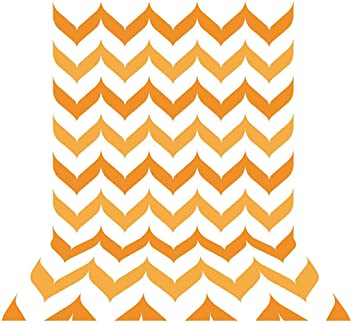 Allenjoy 5x7ft Photography Backdrop Background Halloween Orange Chevron Fall Autumn Newborn Baby Shower Props Photo Studio Booth