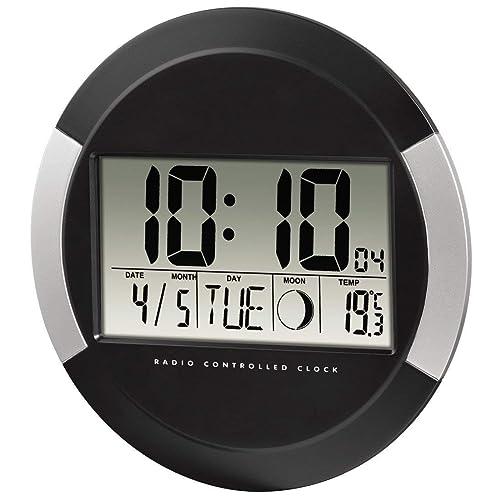 Hama Pared Digital Pp-245, Radio Reloj con Termómetro, Configuración de Zona Horaria