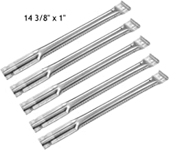 YIHAM KB890 Gas Grill Parts Stainless Steel BBQ Tube Pipe Burner Replacement for Charbroil, Kenmore, Master Chef, Members Mark, Nexgrill and Others, 14 3/8 inch, Set of 5
