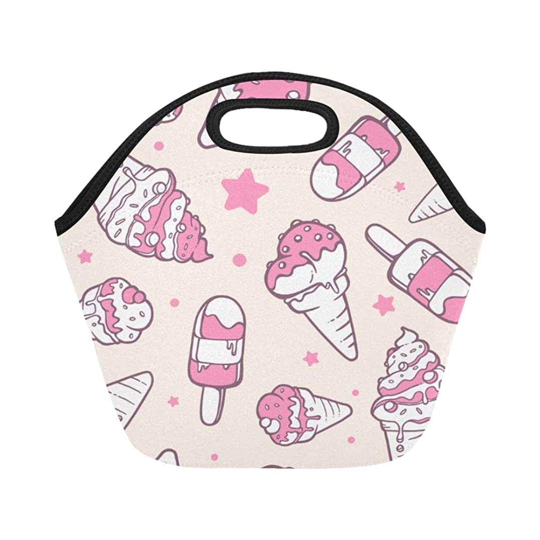 苛性移動維持するGXMAN ランチバッグ うまいアイスクリーム 弁当袋 お弁当入れ 保温保冷 トート 弁当バッグ 大容量 トートバッグ