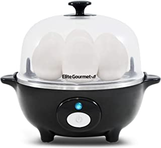 Maxi-Matic Easy Electric Egg Poacher, Omelet Measuring Cup Included, 7 Capacity, Black