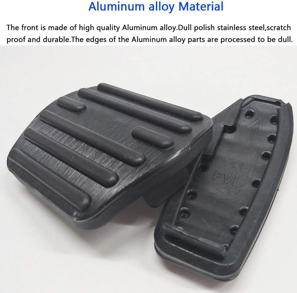 BLACK BOYUER Anti-Slip No Drilling Aluminum Brake and Gas Accelerator Pedal Covers For Nissan Altima 2019-2020 Kicks 2016-2020 Qashqai j11 Rogue X-Trail 2014-2020 Sentra 2019 Foot Pedal Pads Kit 2PCS