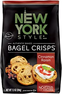 New York Style Bagel Crisps, Cinnamon Raisin, 7.2 Ounce (Pack of 12)
