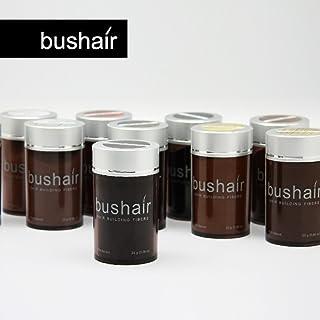 bushair - Polvo de fibras capilares sin componentes animales para ocultar la calvicie y aportar volumen (25 g)