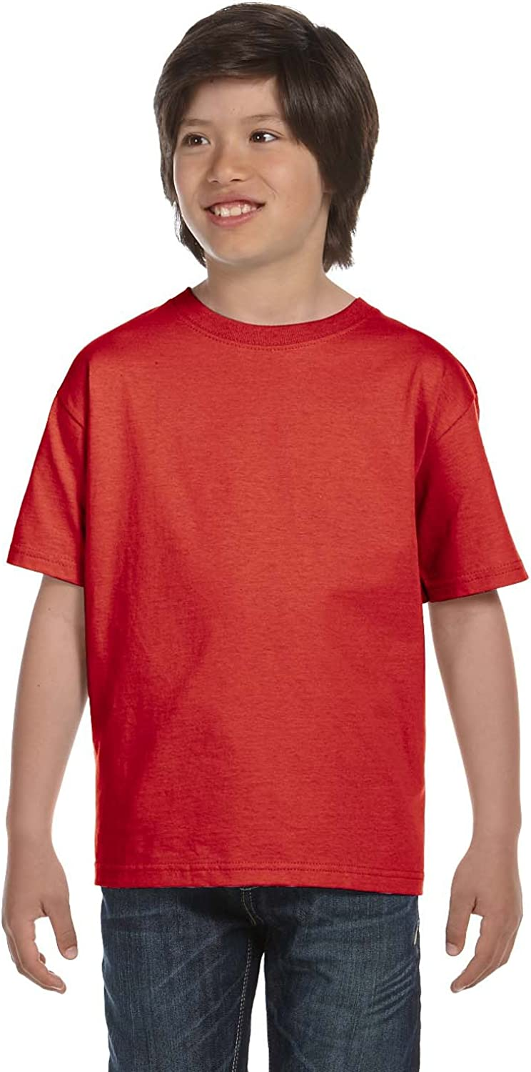 By Hanes Hanes Youth 52 Oz ComfortSoft Cotton T-Shirt - Deep Red - L - (Style # 5480 - Original Label)