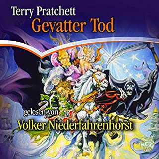 Gevatter Tod     Ein Scheibenwelt-Roman              Autor:                                                                                                                                 Terry Pratchett                               Sprecher:                                                                                                                                 Volker Niederfahrenhorst                      Spieldauer: 7 Std. und 40 Min.     12 Bewertungen     Gesamt 4,8