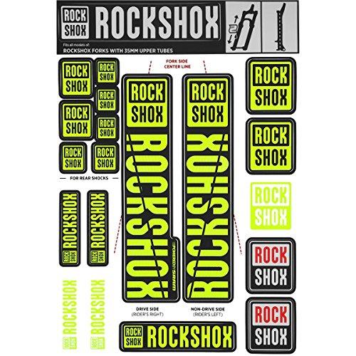 RockShox Suspension Avant Rechange Decal Kit 35Mm Ne01 Jaune My18 Pike/Lyrik/Yari/Domaine/Révélation (2018+) Service Et Pièce Unisex-Adult, Noir, 35 mm