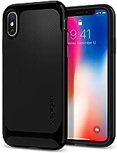 Spigen Neo Hybrid Designed for Apple iPhone X Case (2017) - Black & Shiny Black