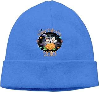 Mickey and Minnie Happy Halloween Unisex Fashion Skull Cap Winter Warm Beanie Leisure Hat
