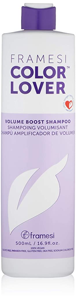 Framesi Color Lover Volume Boost Shampoo - 16.9 Ounce, Color Safe, Weightless, Volume Shampoo With No Sulfate, Vegan, Gluten Free, Cruelty Free