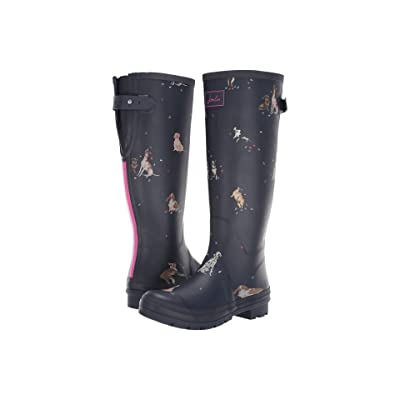 Joules Tall Welly Print (French Navy Dogs In Leaves) Women