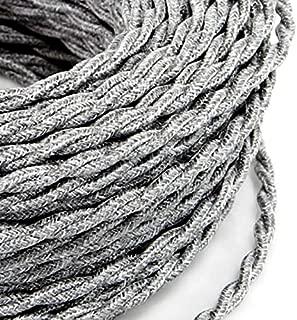 - Jute//Cerise C/âble textile pour lampe 5 Metri c/âble en tissu 2 fils 2 x 0,75 mm2 Fabriqu/é en Italie.