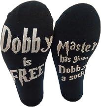 Daliuing Unisex, Calcetines Cortos Calcetines Calientes Calcetines de Moda Calcetines con Deslizador con declaración de Personalidad de algodón Suave:Dobby is Free
