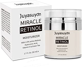 Retinol Moisturizer Cream with Vitamin A C E, Pawaca Majestic Pure Retinol Cream for Face and Eye Anti Aging Formula Reduces Wrinkles and Fine Lines, with 2.5% Active Retinol Hyaluronic Acid 1.7 Fl.Oz