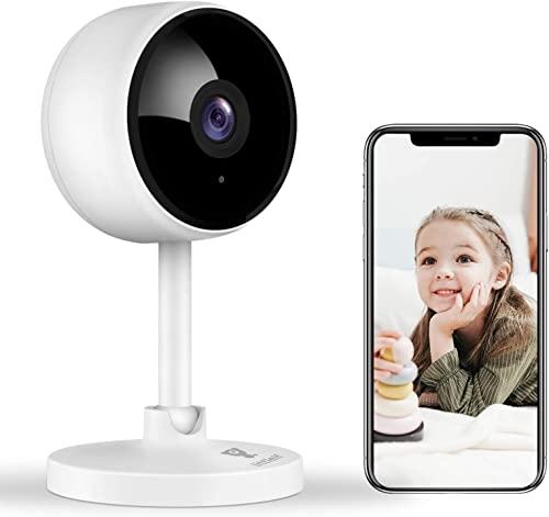 Littlelf Home Security Camera, 1080P WiFi Indoor Camera, Baby Monitor with Night Vision, Motion Detection, 2 Way Audi...