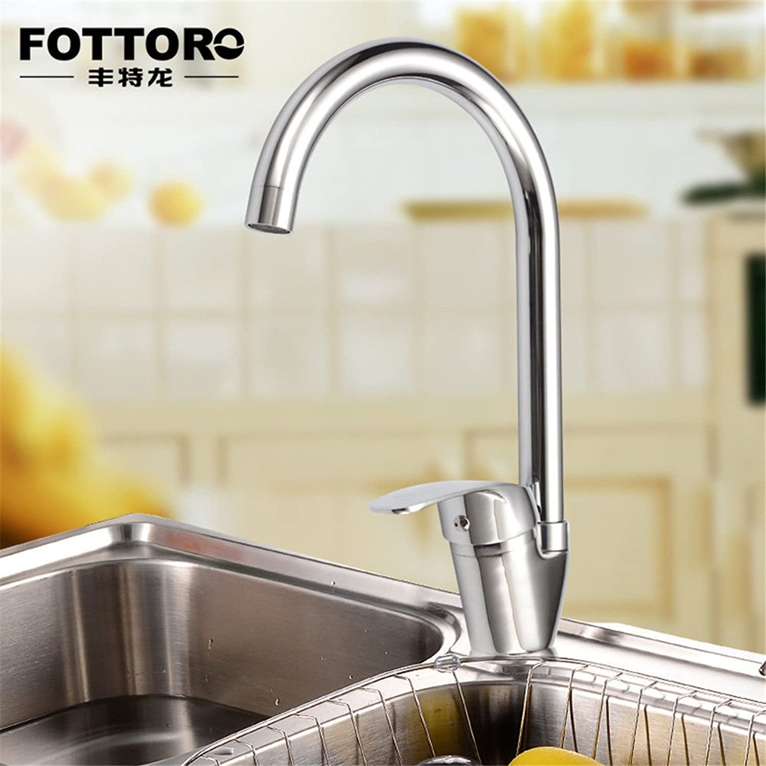 Commercial Single Lever Pull Down Kitchen Sink Faucet Brass Constructed Polished Fine Copper redatable Kitchen Faucet Hot and Cold Faucet Kitchen Sink Faucet Sink Faucet