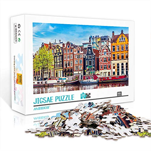 YITUOMO 1000 piezas rompecabezas para adultos Amsterdam madera rompecabezas educativo rompecabezas juguetes regalo para adultos y niños desafío