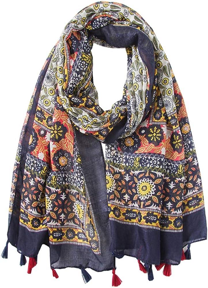 Ecroon Mujer Fulares Pañuelos para la cabeza Bufandas Pañuelo de Largo para Chales Estolas Pañuelo Suave Cuello
