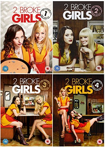 2 Broke Girls 1-4 Complete DVD Collection - Seasons 1, 2, 3 and 4 And Exclusive Extras + Bonus Features + Unaired scenes by Kat Dennings