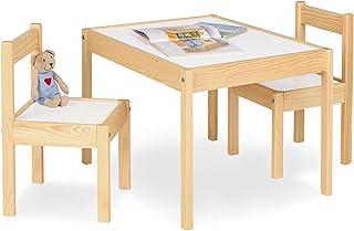 comprar comparacion Pinolino Olaf - Juego de mesa y 2 sillas infantiles (parcialmente macizo, mesa de 64 x 50 x 46 cm, sillas de 28 x 30 x 51 ...