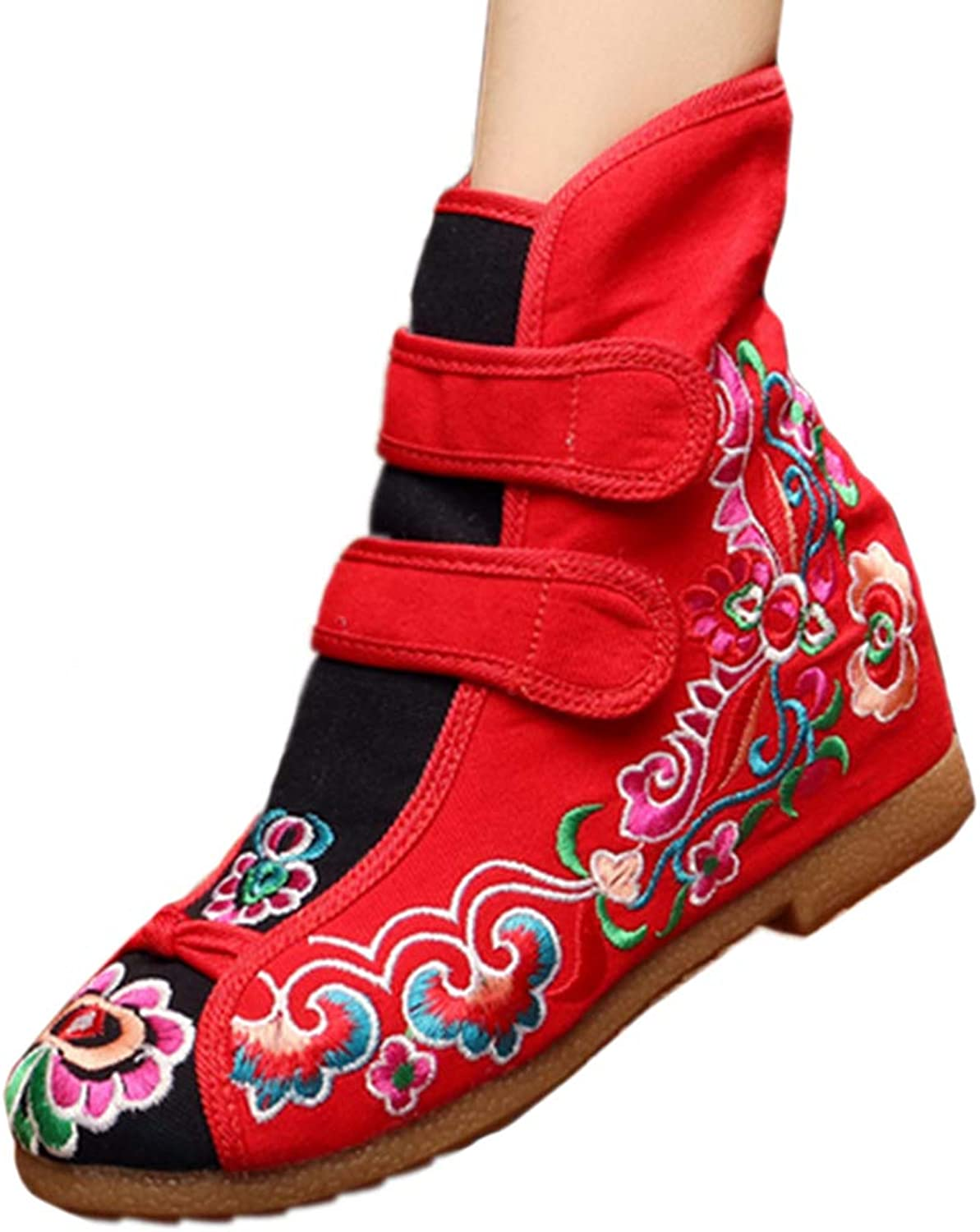 Longxing Flowers Vintage Beijing Cloth shoes Embroidered Boots