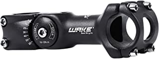 Wake MTB Stem 31.8 90mm 110mm 0-60 Degree Adjustable Bike Stem Mountain Bike Stem Short Handlebar Stem for Bicycle, Road Bike, MTB, BMX, Cycling (Aluminum Alloy, Lightweight, Black)
