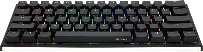 Ducky One 2 Mini RGB LED 60% Double Shot PBT Mechanical Keyboard (Cherry MX Red)