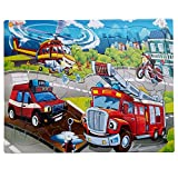 Just Smarty Jigsaw Puzzle Firefighter 52 Pieces for Kids Ages 4, 5, 6, 7 Year Old with Fun Shapes and Tray. Fun Learning Educational Toy for Boys Girls in Kindergarten, First Grade, Second Grade