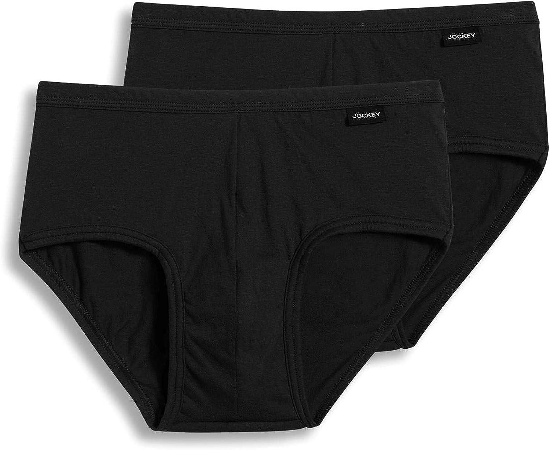 Jockey Men's Underwear Elance Poco Brief - 2 Pack