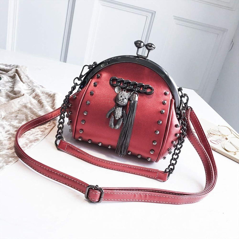 ZLULU Damen-Schultertaschen Damenhandtaschen Umhängetasche Nietkette Damenhandtasche Umhängetasche B07KQ8D4LC  Neue Neue Neue Produkte im Jahr 2019 79b1b5