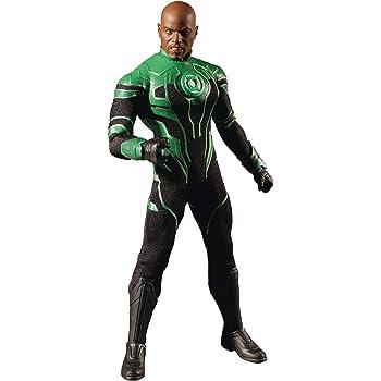 Mezco One12 Collective Green Lantern John Stewart Figure Intergalatic Guardian