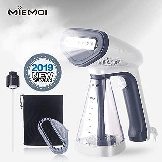 MieMoi Portable Handheld Garment Steamer for Fabric Clothes, 1200-Watt,Detachable Water Tank, Handgrip360 Rotational Swivel,Stainless Steel Panel