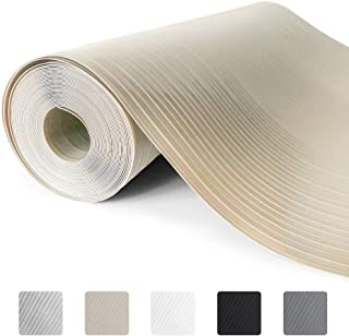 Gorilla Grip Ribbed Top Drawer and Shelf Liner, Non Adhesive Roll, 12 Inch x 20 FT, Durable and Strong, Grip Liners for Drawers, Shelves, Kitchen Cabinets, Storage and Kitchens, Beige Opaque Ribbed