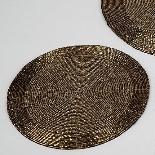 Formano Untersetzer 10 Perlen gold 507167