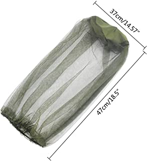 Mosquito Head Net   Extra Large Bug Face and Neck Shield   Insect Netting with Extra Fine Mesh   Ultimate Outdoor Protection from Bugs   Soft Fly Screen- a Must of Fishing, Camping, Hiking (3PC) US