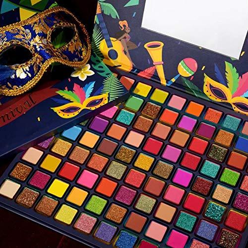 JILY 24 Colores Maquillaje Sombra de Ojos Sombra de Ojos Sombra Polvo Disco portátil Brillo Brillo Sombra de Ojos con Pinceles Impermeable de Largo duración