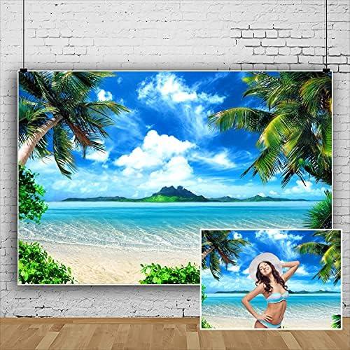 DASHAN 5x4Ft Polyester Fiber Summer Dallas Mall Max 85% OFF Back Photography Beach Ocean