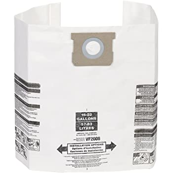 Bag Filter For WORKSHOP 5-Gallon To 9-Gallon Shop Vacuum Cleaners Emerson Tool Company 2-Pack // 4 Shop Vacuum Bags WORKSHOP Wet Dry Vacuum Bags WS32090F2 Fine Dust Collection Shop Vacuum Bags