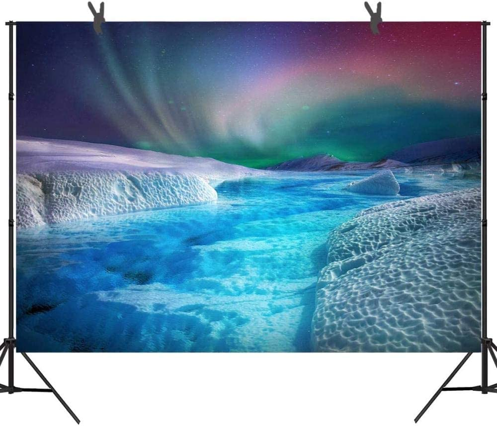 Zhy 7X5FT Night Circus Backdrop Blue Tent Fireworks Lights Cartoon Photography Background Theme Party Banner Photo Booth DSST190