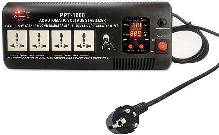 Yinleader PPT-1600 - Transformador Elevador/Reductor de Voltaje de 1500 Vatios EE.