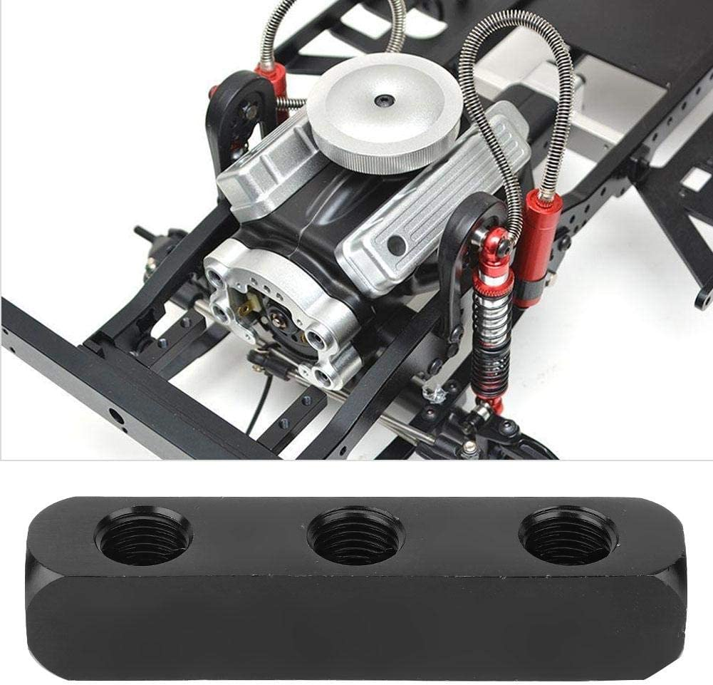 直三通 1 x Air Hose Manifold Block SUS304 Pneumatic Air Hose Inline Manifold Block Splitter 1//4 Inch BSPP Thread Black