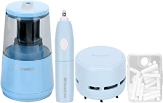 MCOMC Electric Pencil Sharpener Eraser Vacuum Cleaner Set Stationery Set Power Cord/Battery Operated with 50 Eraser Refill...