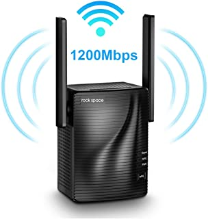 WiFi Range Extender - 1200Mbps WiFi Repeater Wireless Signal Booster, 2.4 & 5GHz Dual Band WiFi Extender with Gigabit Ethernet Port, Simple Setup.