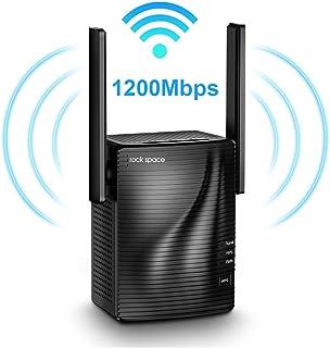 Repetidor de Red WiFi - Amplificador Señal de WiFi AC1200, Extensor de Red Doble Banda 2.4GHz & 5G, Extensor de Enrutador Inalámbrico con Puerta Gigabit Ethernet, Cubra la señal hasta 120 ㎡