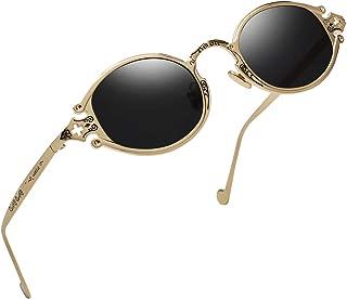 Gothic Vintage John Lennon Style Oval Sunglasses -RANHUU Steampunk Retro Mirror Sun Glasses Women Unisex Eyeglasses