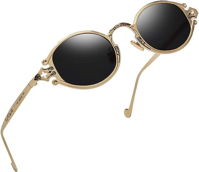 Steampunk Clothing, Fashion, Costumes Gothic Vintage John Lennon Style Oval Sunglasses -RANHUU Steampunk Retro Mirror Sun Glasses Women Unisex Eyeglasses  AT vintagedancer.com
